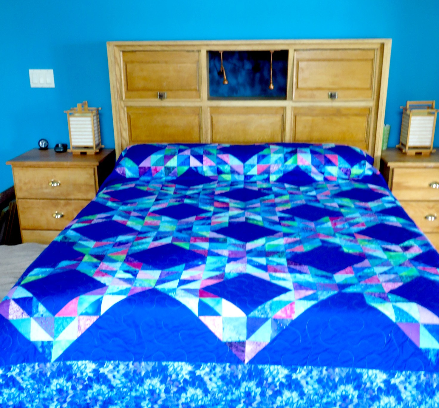 Cool king size quilts for modern bedroom design with king size quilt dimensions