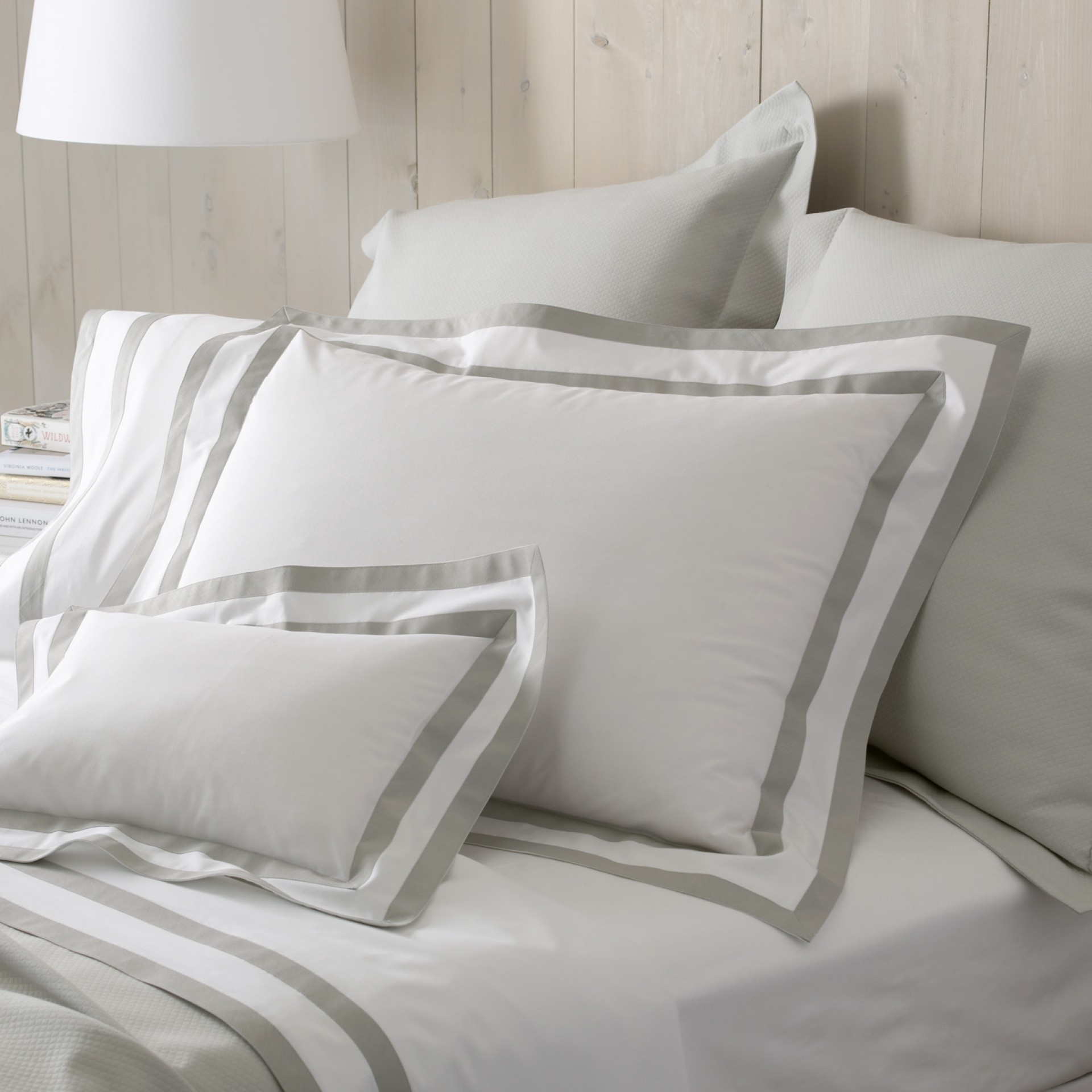 Cool matouk sheets with pillows and white shade table lamp for bedroom with matouk sheets sale