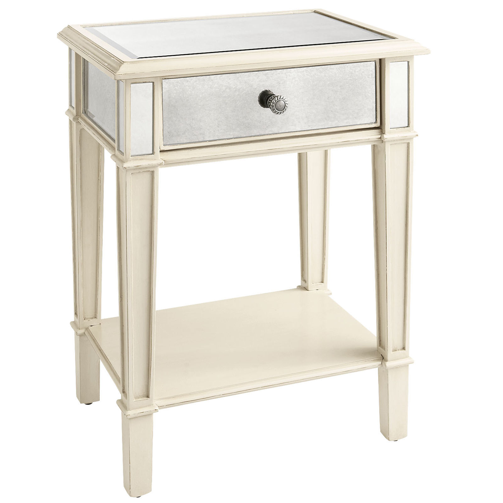 Cool mirror nightstand for bedroom furniture with mirrored nightstand