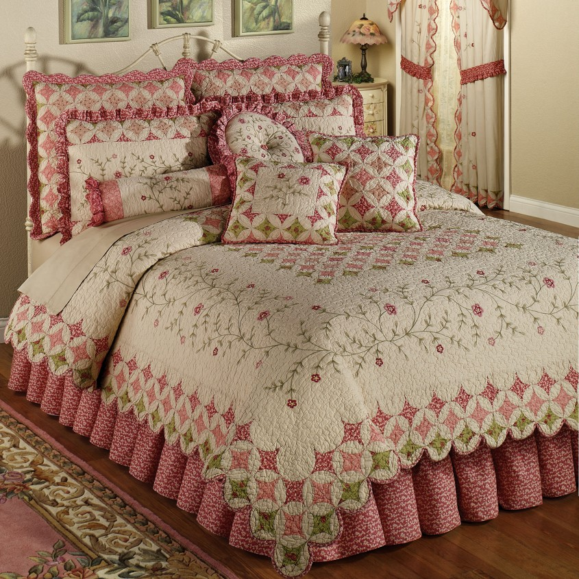 Cozy King Size Quilts For Modern Bedroom Design With King Size Quilt Dimensions