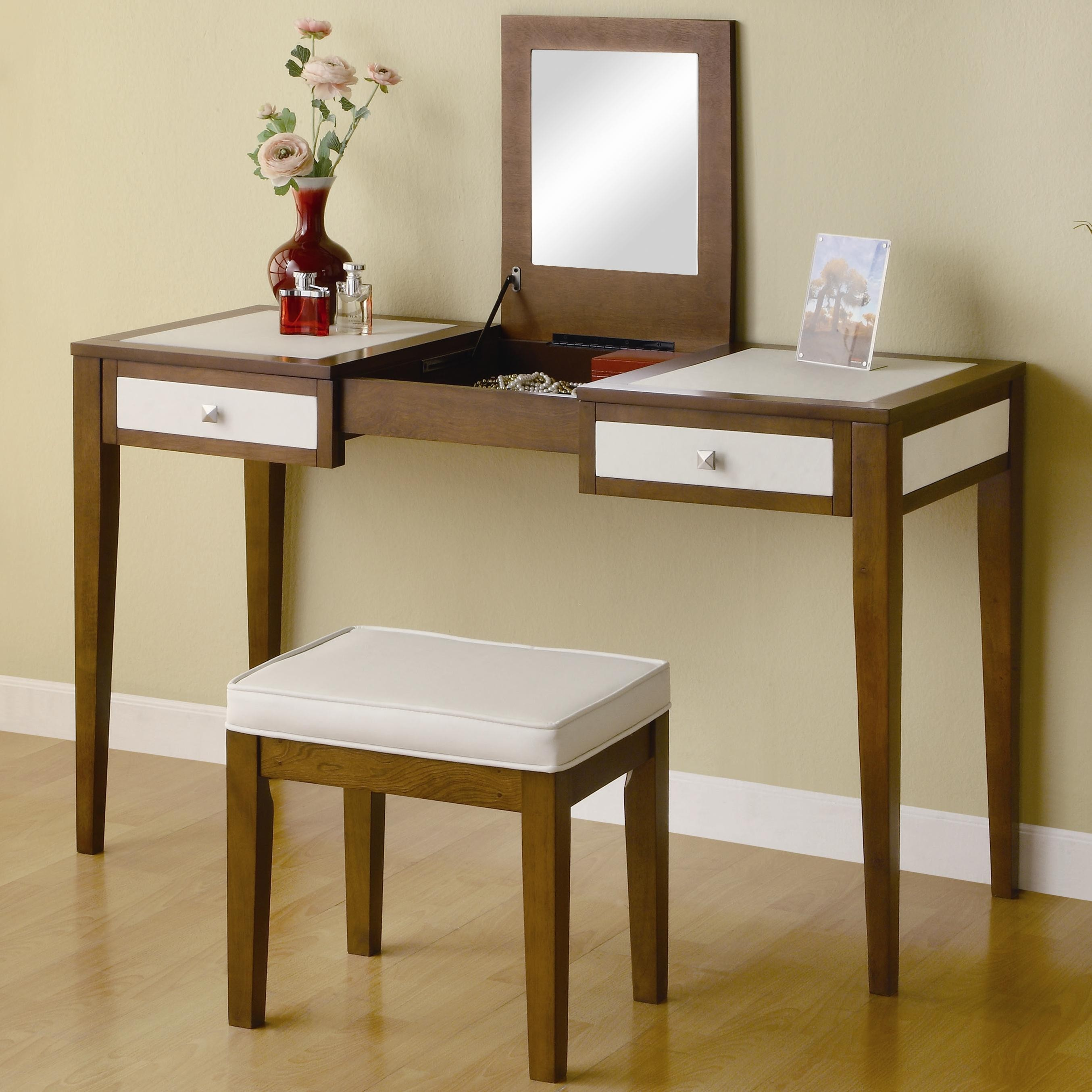 Cozy mirrored vanity for home furniture and vanity mirror with lights