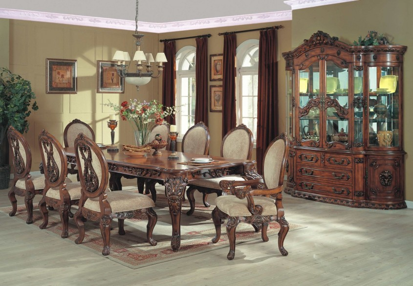 Creative Formal Dining Room Sets With Buffet And Ceiling Light For Home Design With Modern Formal Dining Room Sets