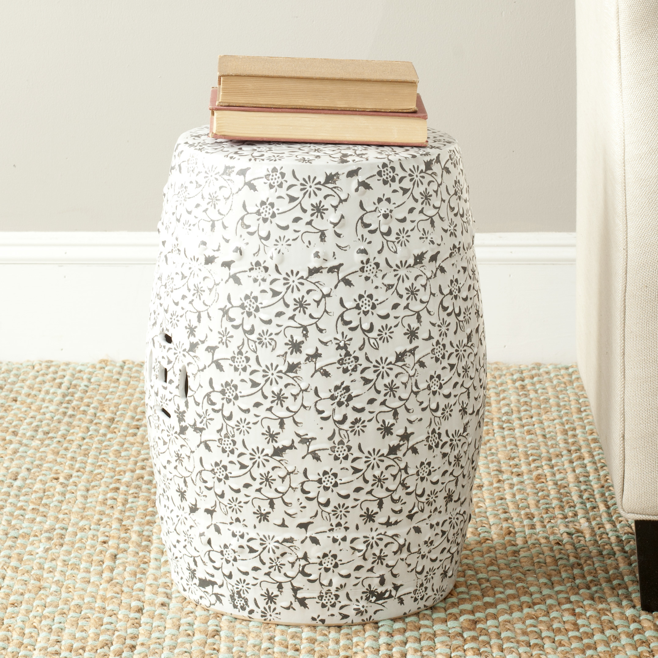 Creative garden stool for decorating interior ideas with ceramic garden stool