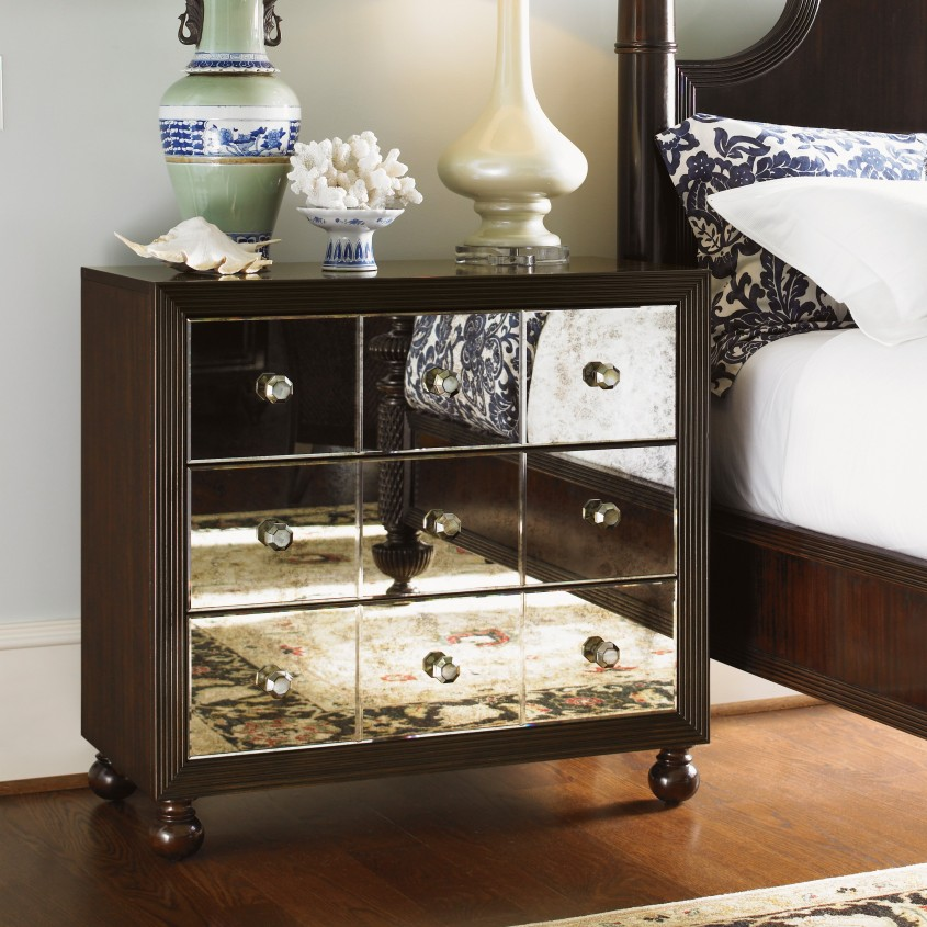 Creative Mirror Nightstand For Bedroom Furniture With Mirrored Nightstand