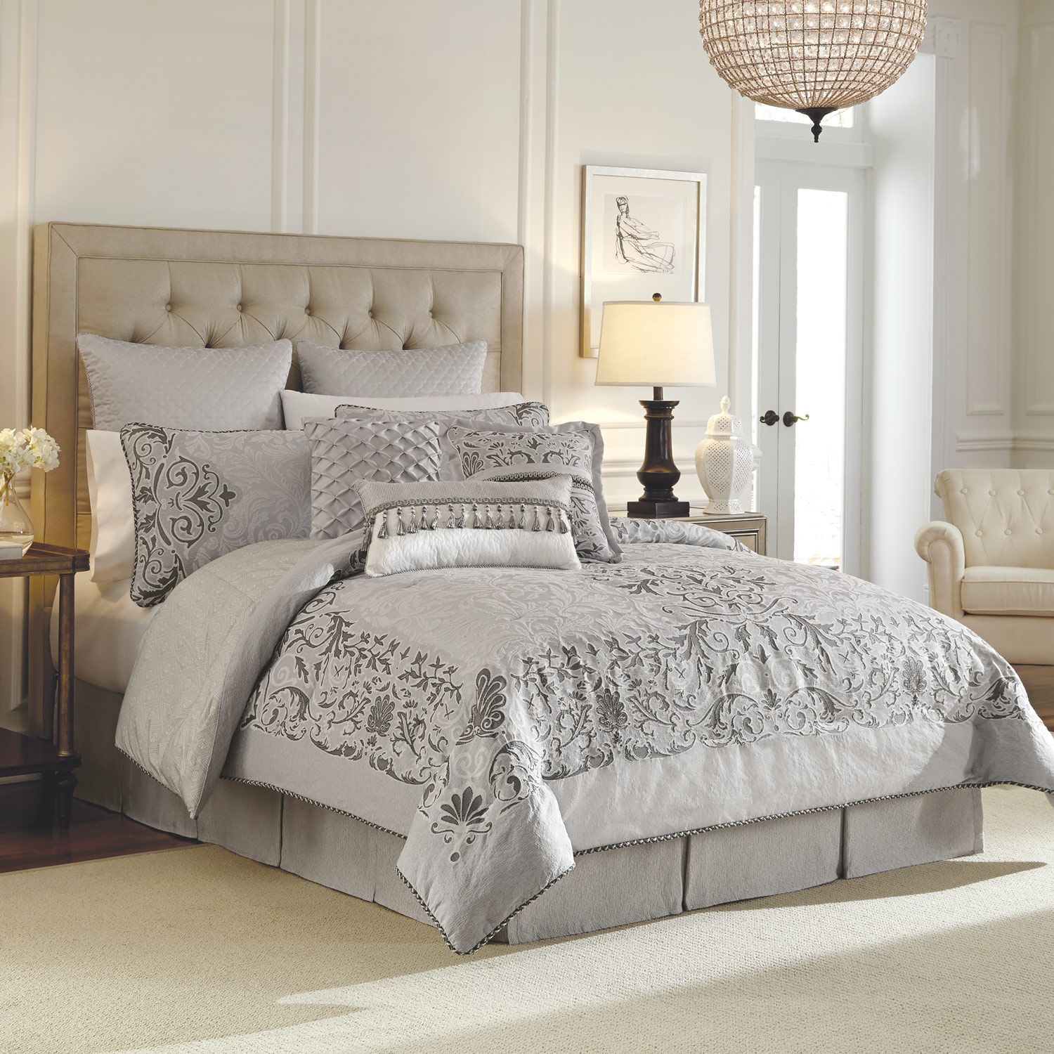 Cute california king bedding for bedroom design with california king bed frame