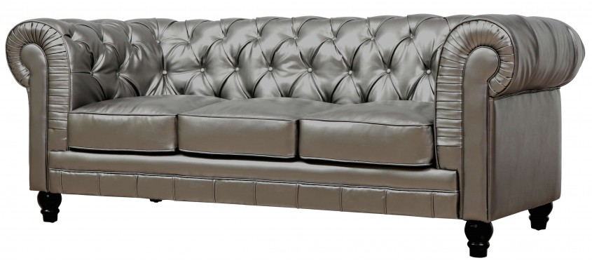 Cute Tufted Leather Sofa For Living Room Design With Tufted Leather Sectional Sofa
