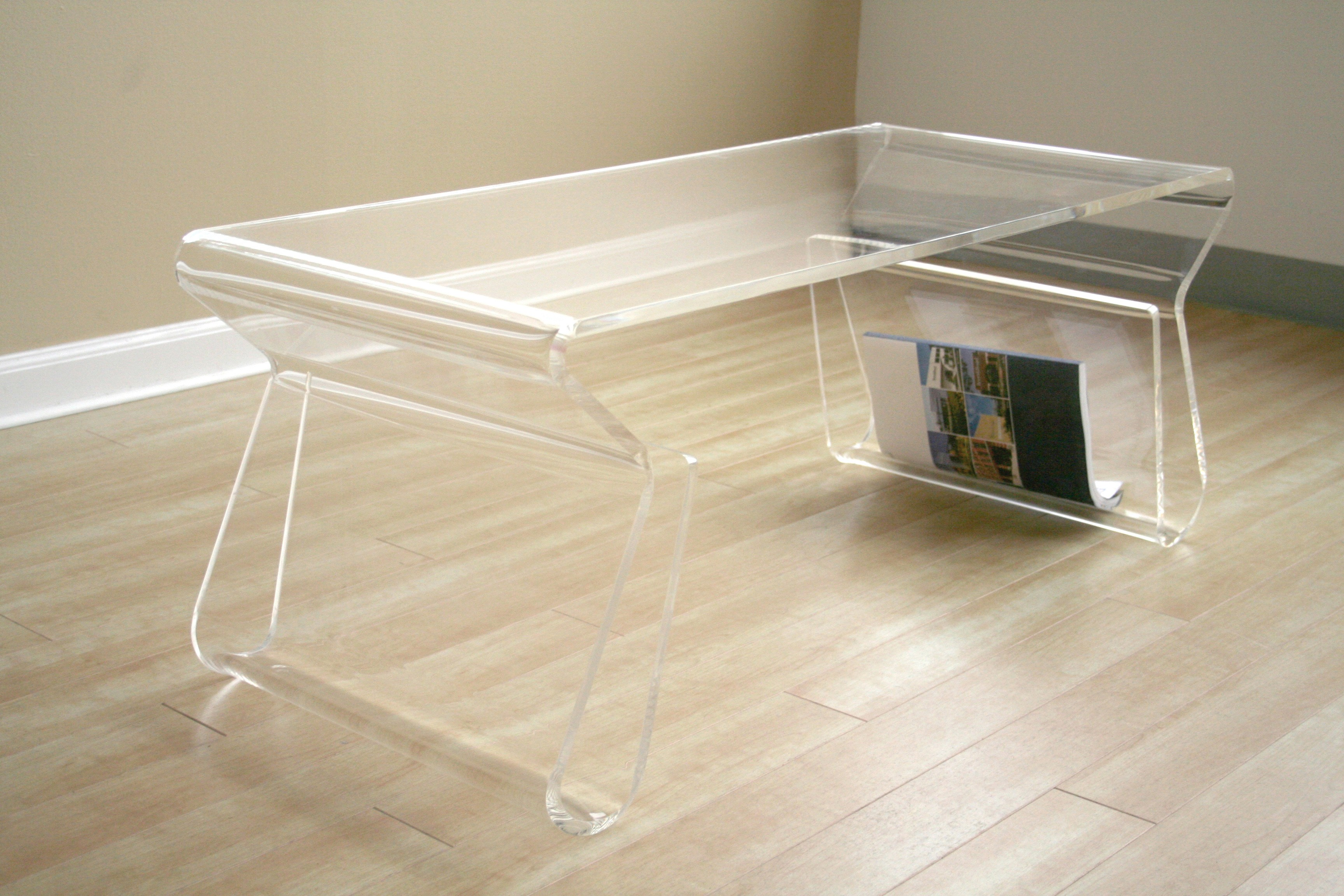 Dazzling acrylic coffee table for home furniture with clear acrylic coffee table