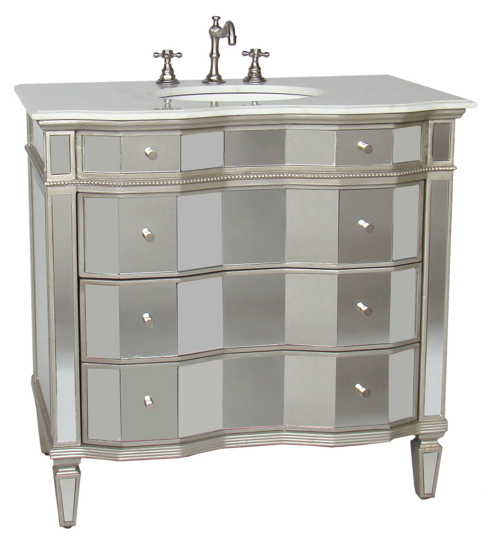 Dazzling mirrored vanity for home furniture and vanity mirror with lights