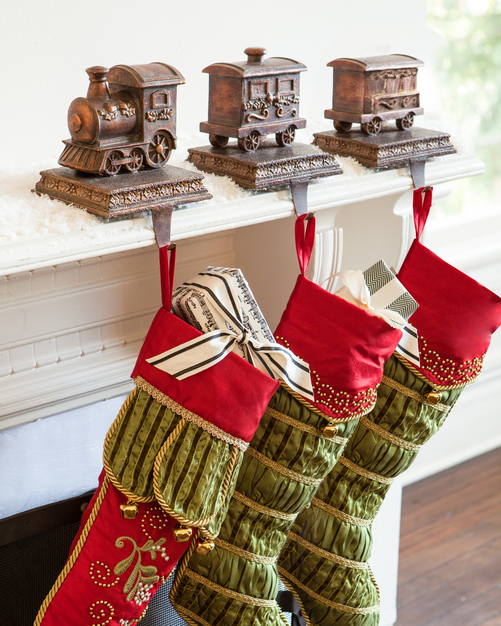 Dazzling stocking holder for interior decor ideas with christmas stocking holders