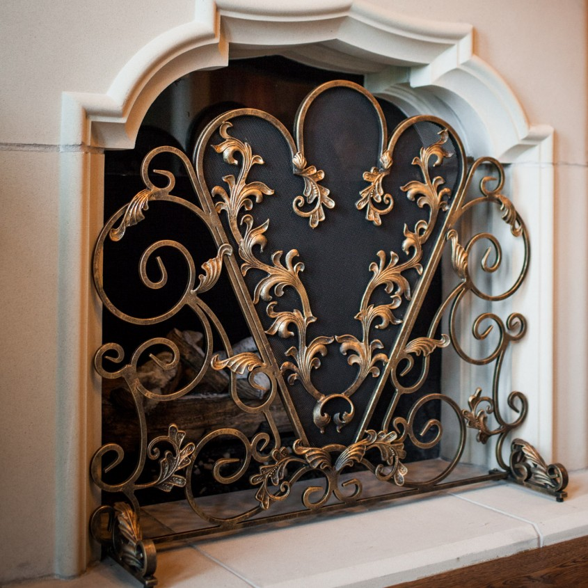 Elegant Fireplace Screen For Home Furniture With Decorative Fireplace Screens