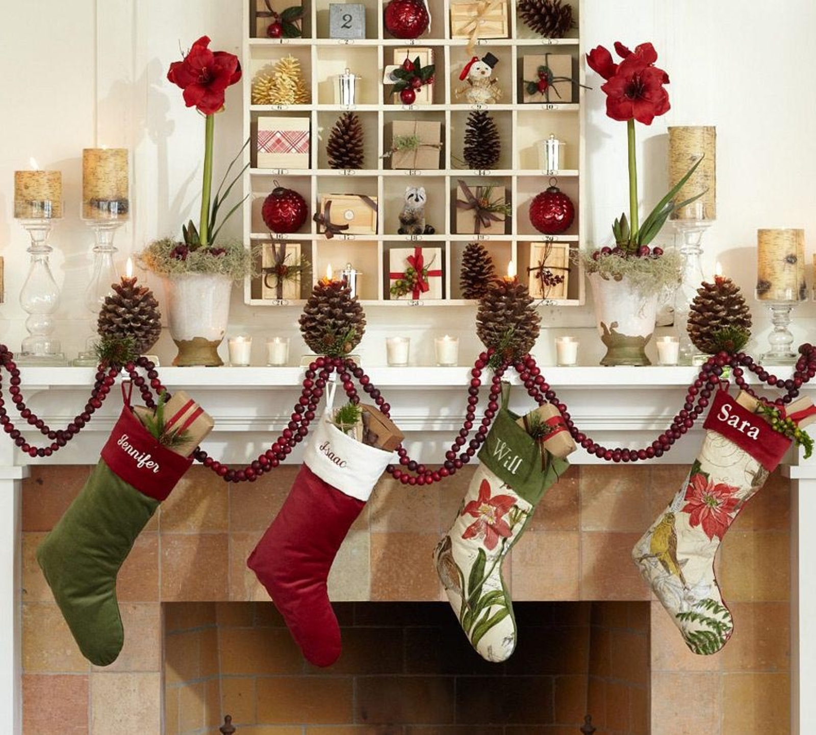 Elegant stocking holder for interior decor ideas with christmas stocking holders