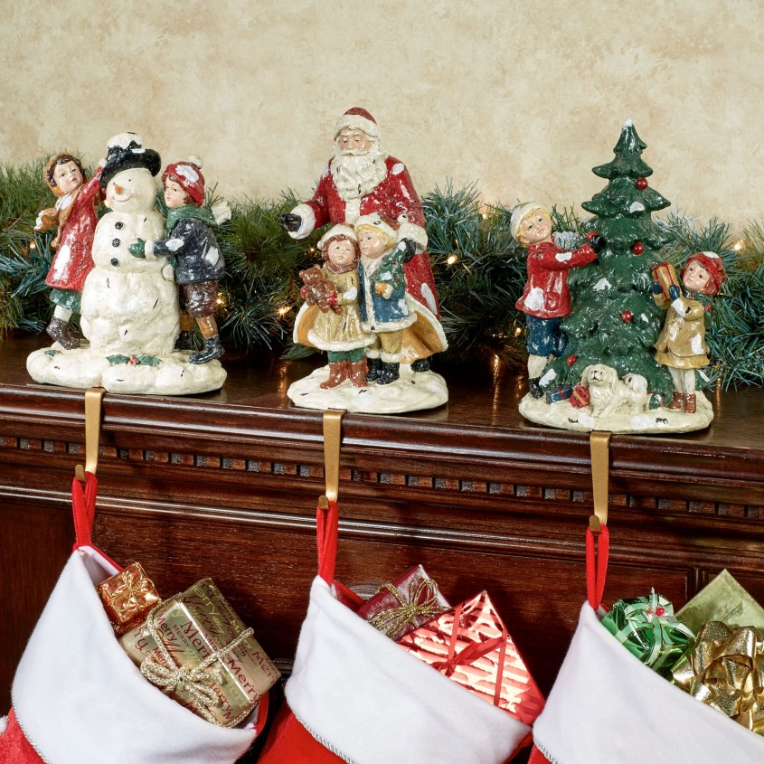 Enchanting Stocking Holder For Interior Decor Ideas With Christmas Stocking Holders