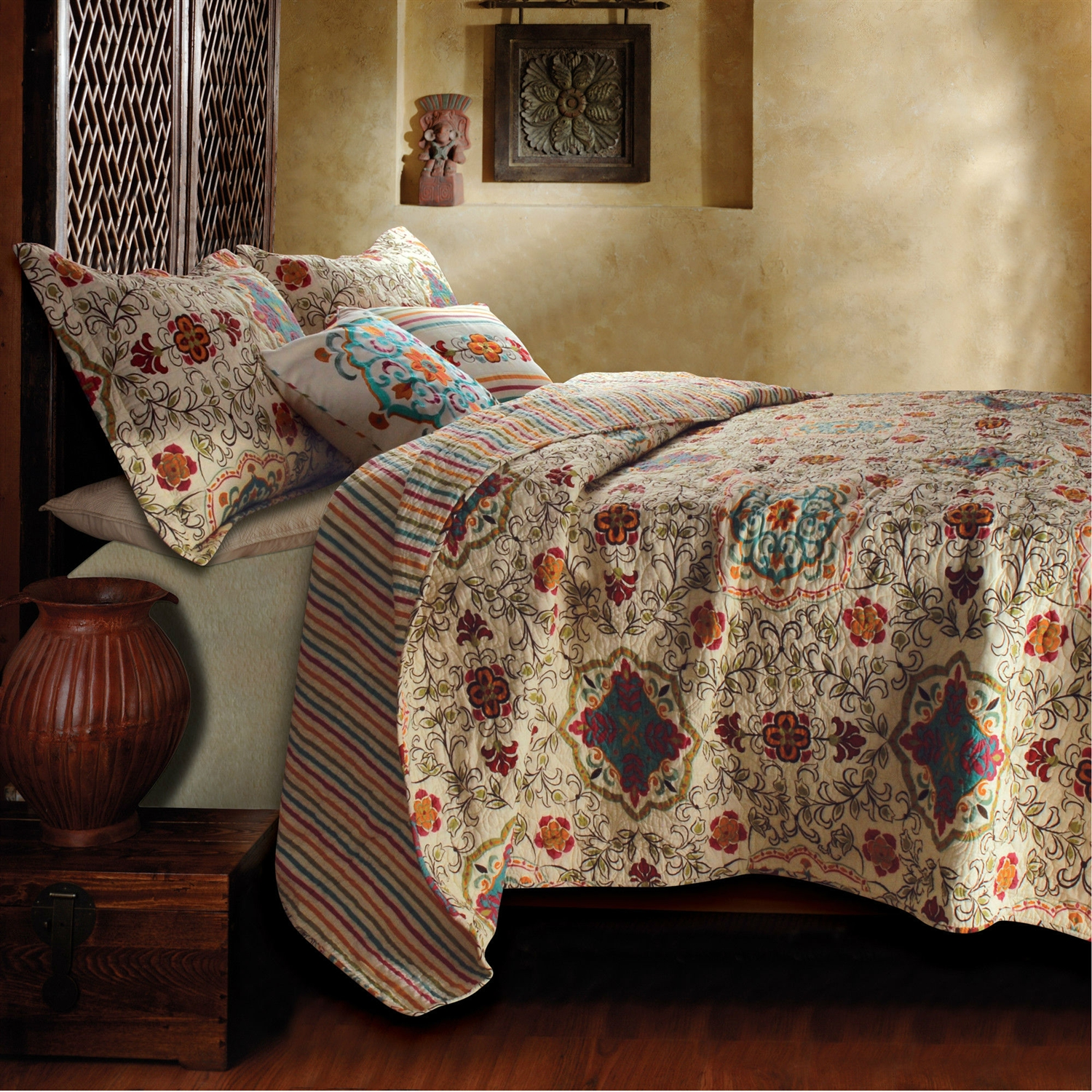 Excellent king size quilts for modern bedroom design with king size quilt dimensions