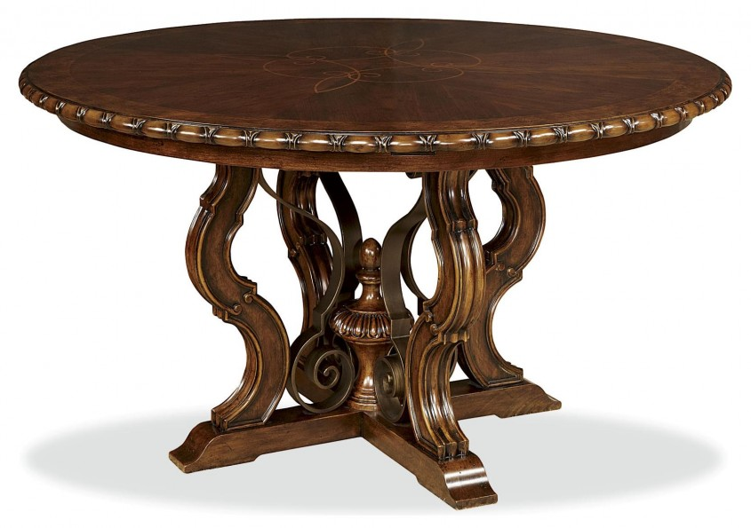 Excellent Pedestal Dining Table With Leaf For Dining Room With Round Pedestal Dining Table