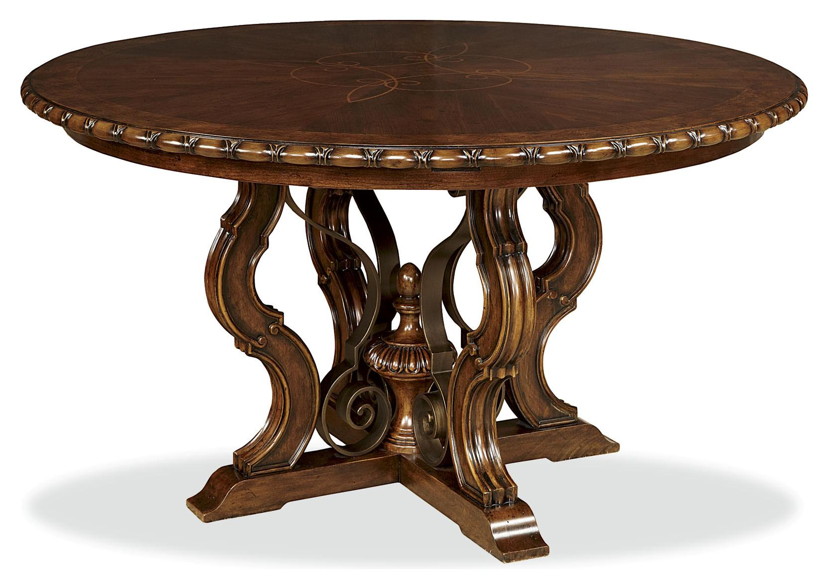 Excellent pedestal dining table With-Leaf for dining room with round pedestal dining table