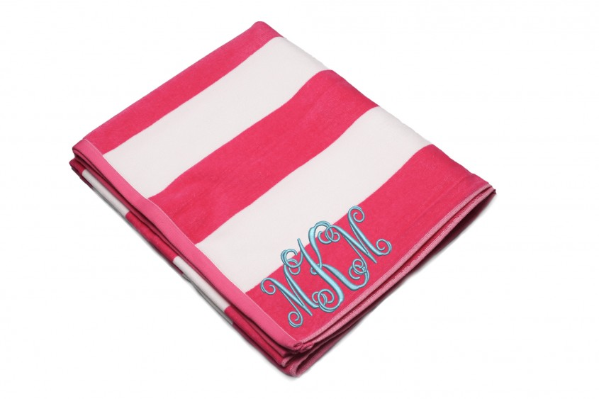 Exciting Monogrammed Beach Towels For Outdoor Ideas With Beach Towels Monogrammed