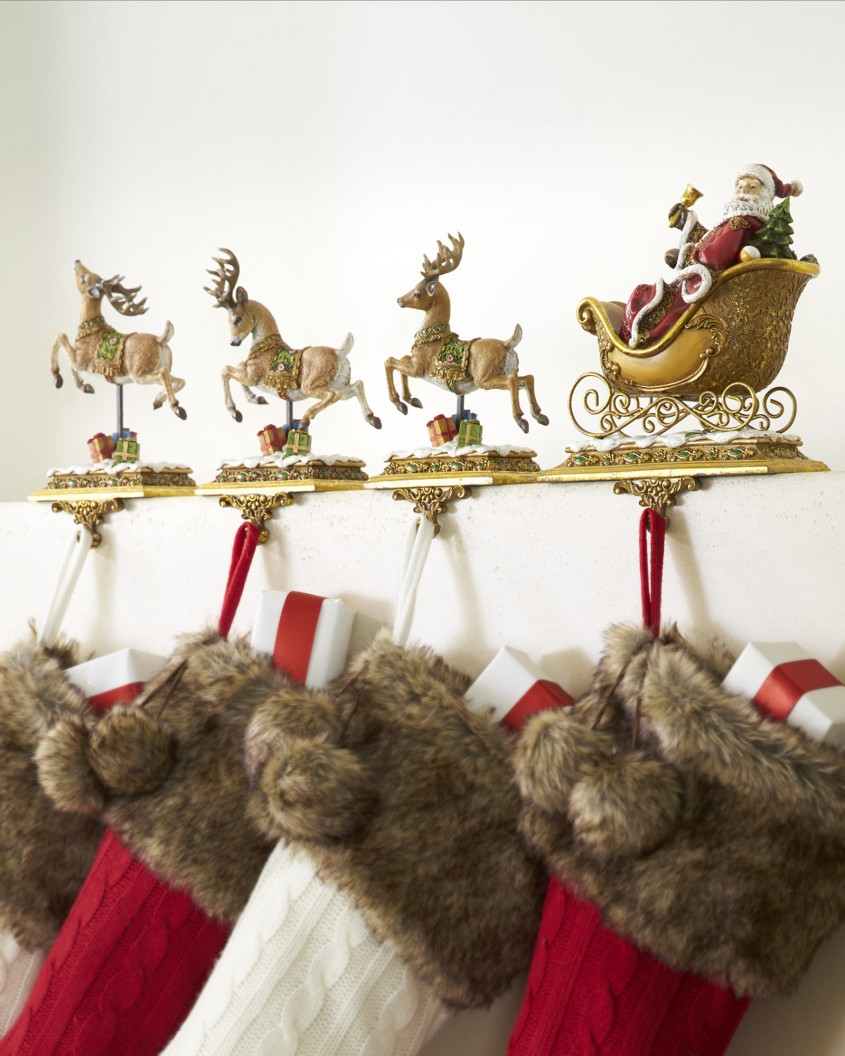Exciting Stocking Holder For Interior Decor Ideas With Christmas Stocking Holders
