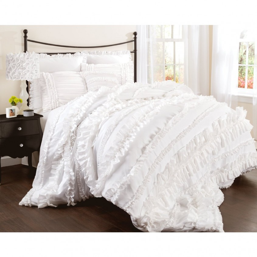 Exciting White Comforter Sets For Charming Bedroom Ideas With White Comforter Sets Queen