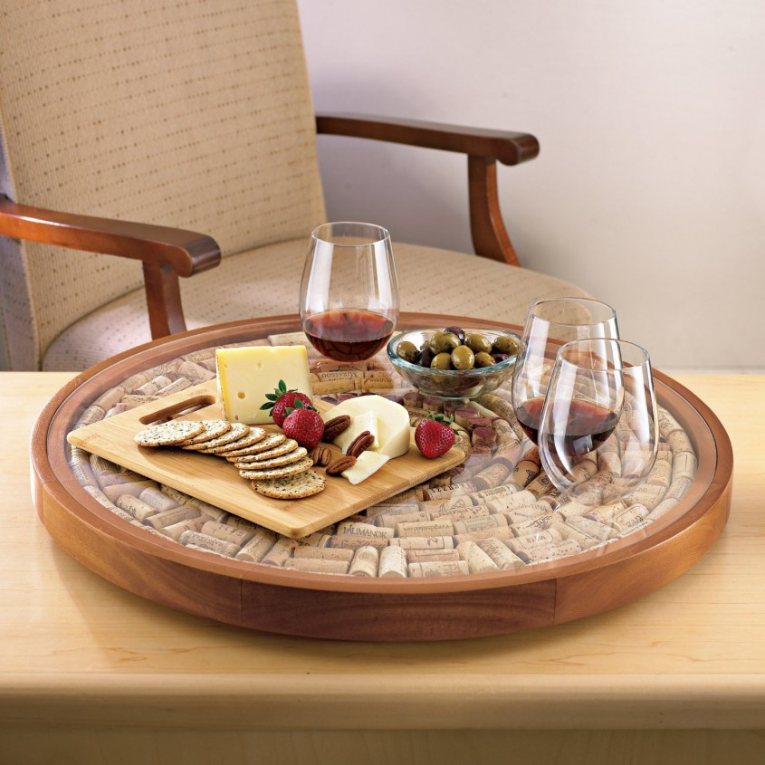 Exciting Wine Barrel Lazy Susan For Furniture Accessories Ideas With Personalized Wine Barrel Lazy Susan