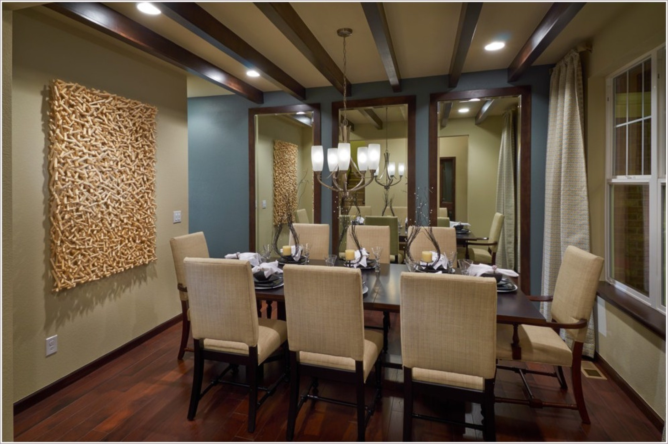 Exquisite Formal Dining Room Sets With Buffet And Ceiling Light For