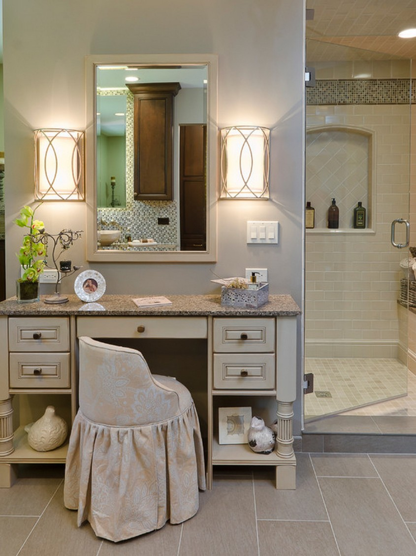 Exquisite Mirrored Vanity For Home Furniture And Vanity Mirror With Lights