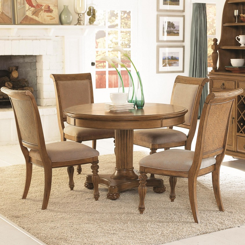 Extraordinary Pedestal Dining Table And Chairs For Dining Room With Round Pedestal Dining Table
