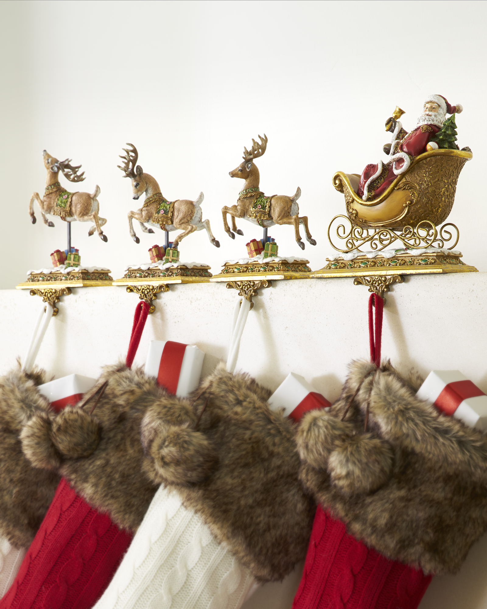 Extraordinary stocking holder for interior decor ideas with christmas stocking holders