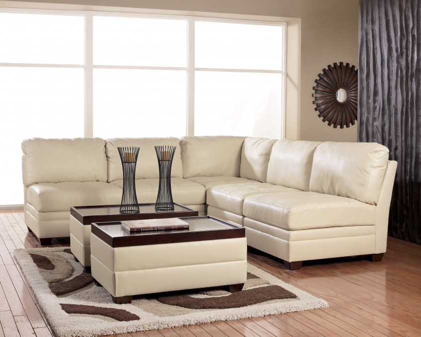 Extraordinary White Leather Sectional  For Small Spaces Living Room With White Leather Sectional Sofa