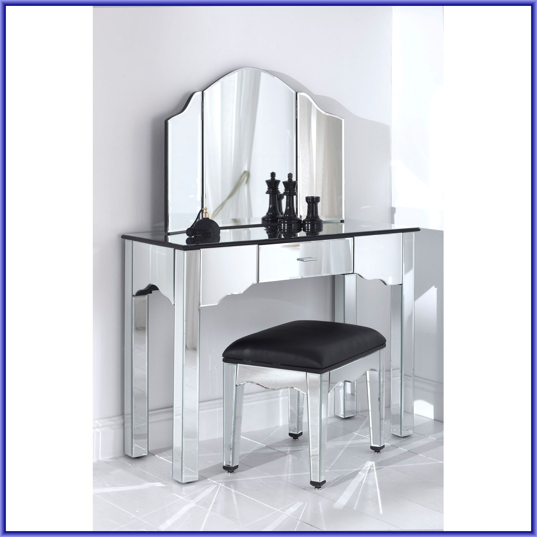 Fantastic mirrored vanity for home furniture and vanity mirror with lights