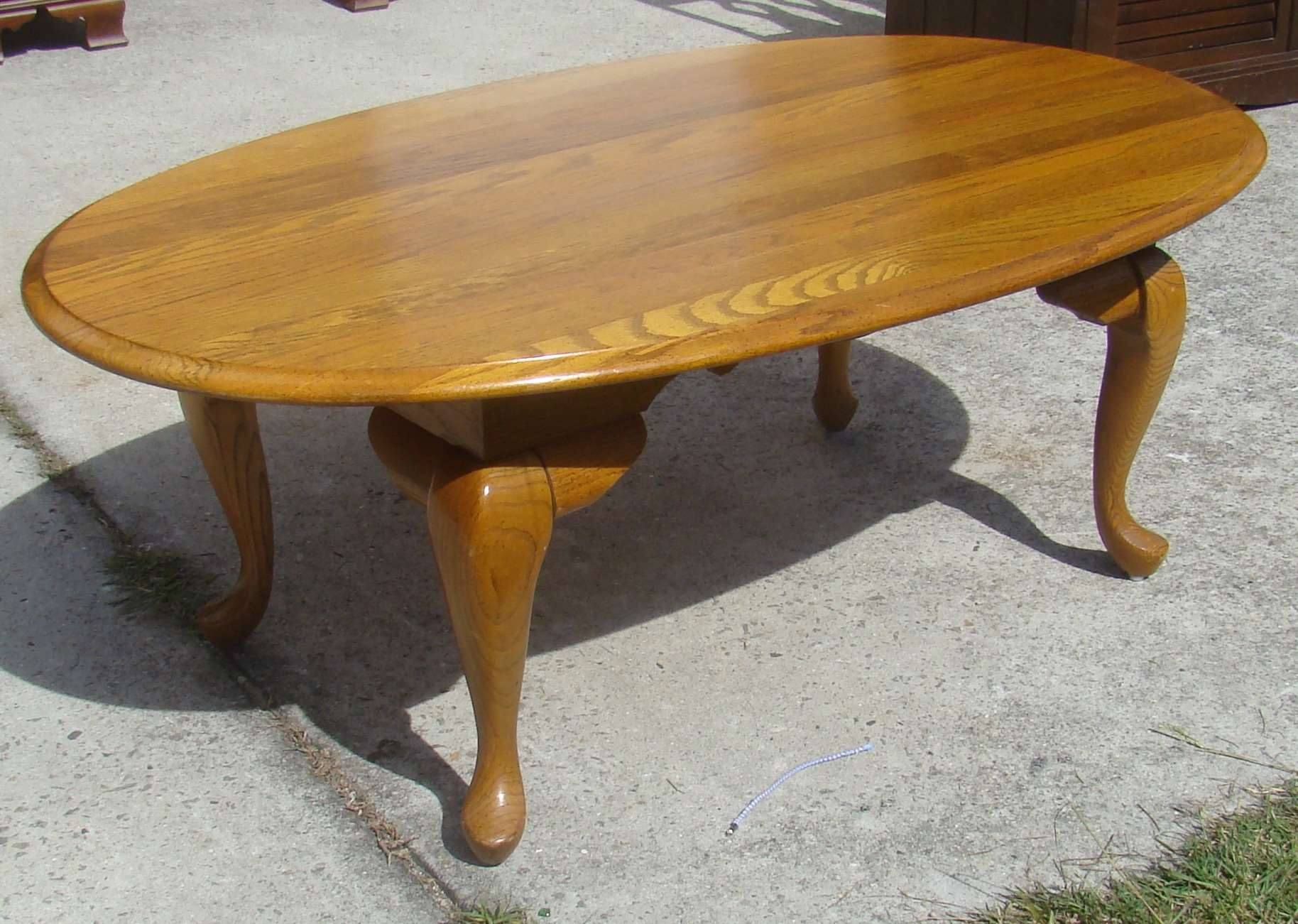 Fantastic oval coffee table for home furniture with oval wood coffee table