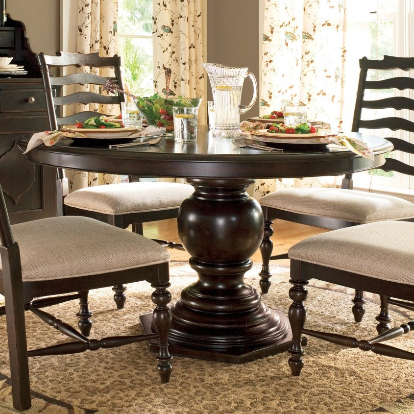 Fascinating Pedestal Dining Table And Chairs For Dining Room With Round Pedestal Dining Table