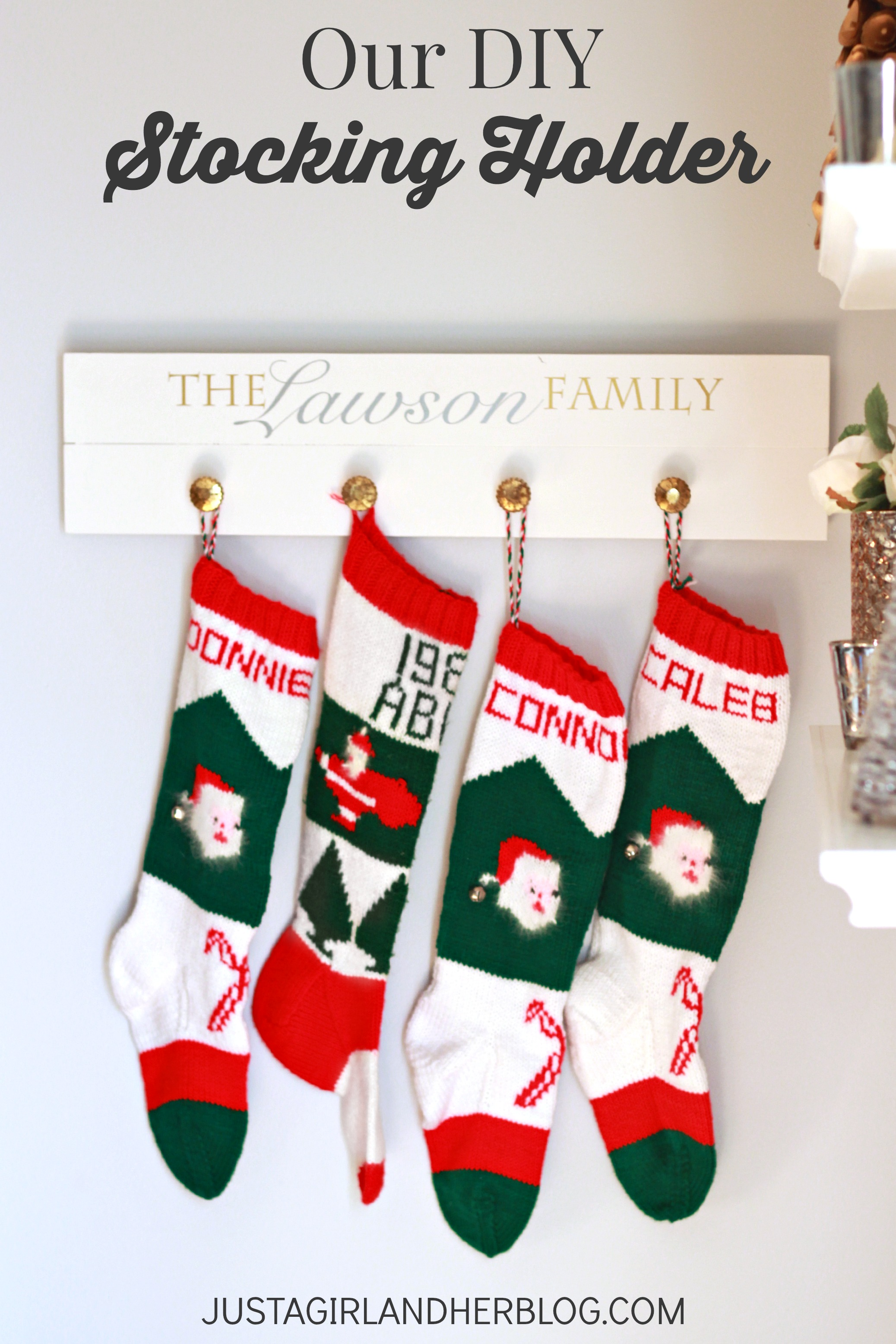 Fascinating stocking holder for interior decor ideas with christmas stocking holders