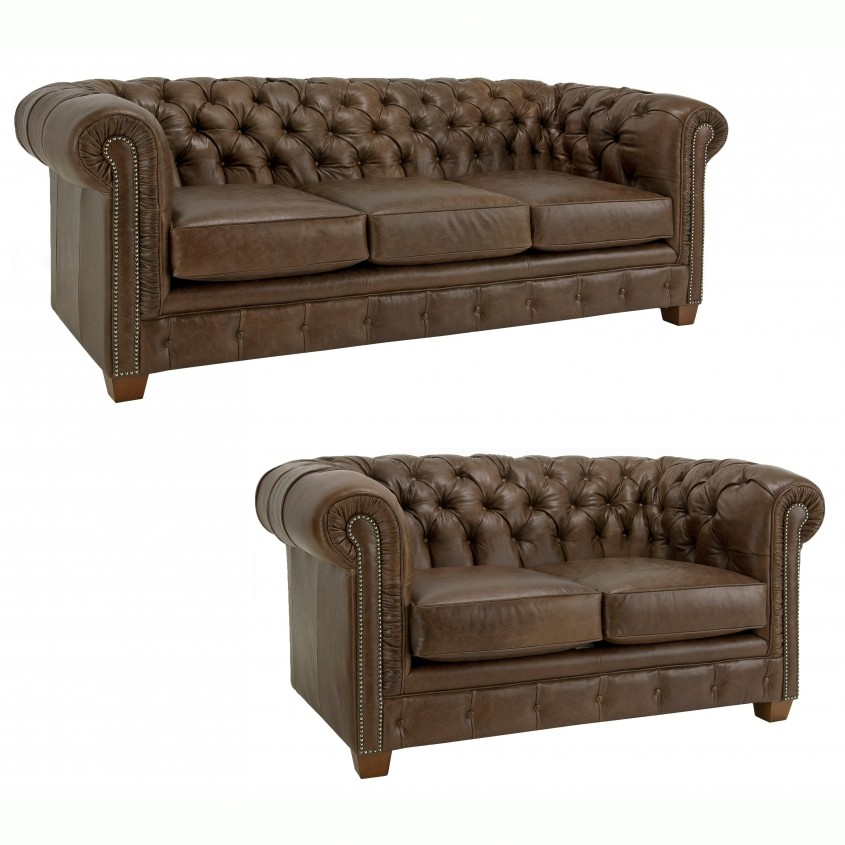 Decorating Brown Leather Sofa Tufted Distressed Brown Italian Intended For Bicast Leather Sofa