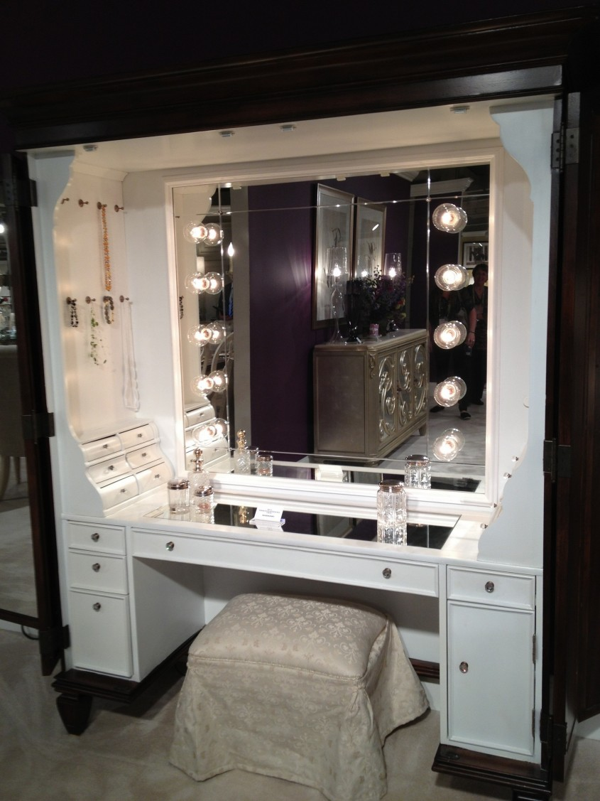 Great Mirrored Vanity For Home Furniture And Vanity Mirror With Lights