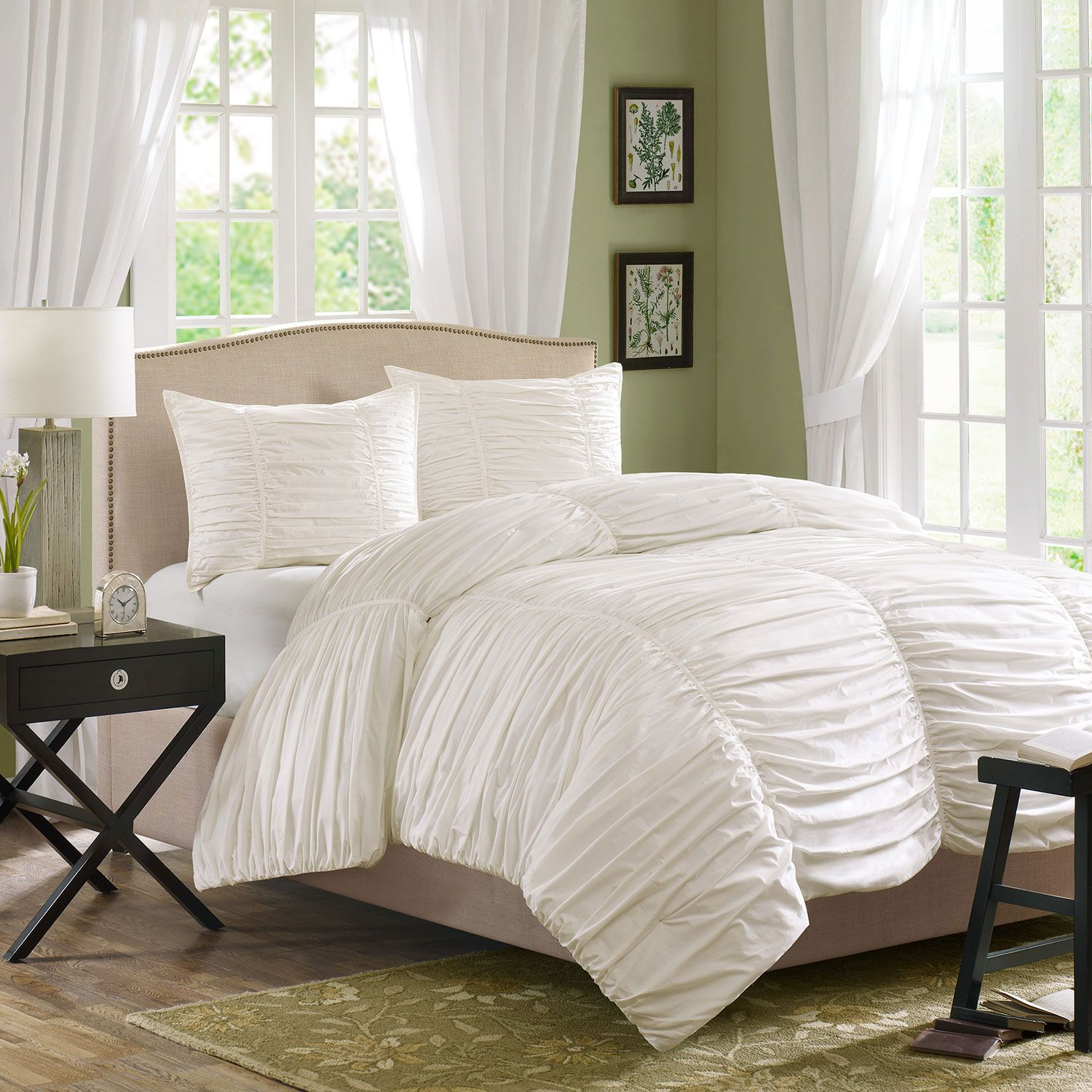 Great white comforter sets for charming bedroom ideas with white comforter sets queen