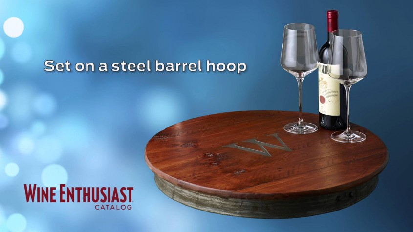 Great Wine Barrel Lazy Susan For Furniture Accessories Ideas With Personalized Wine Barrel Lazy Susan