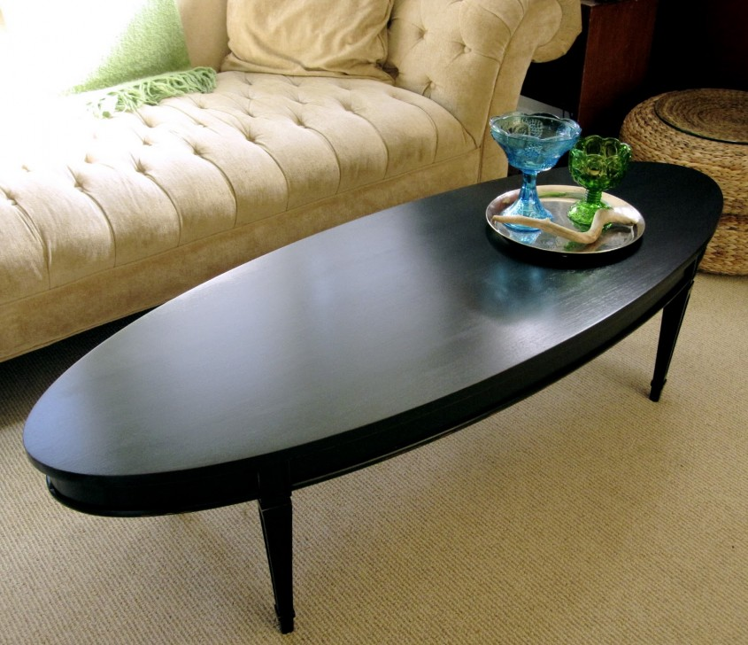 Incredible Oval Coffee Table For Home Furniture With Oval Wood Coffee Table