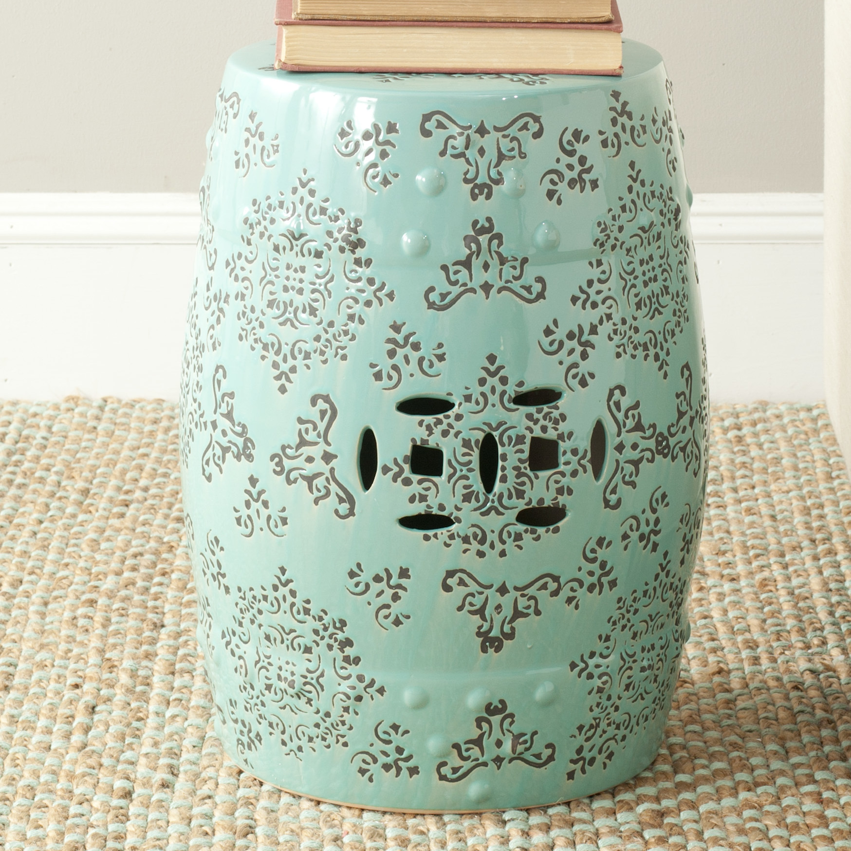 Inspiring garden stool for decorating interior ideas with ceramic garden stool