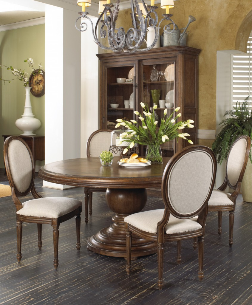 Inspiring Pedestal Dining Table And Chairs For Dining Room With Round Pedestal Dining Table