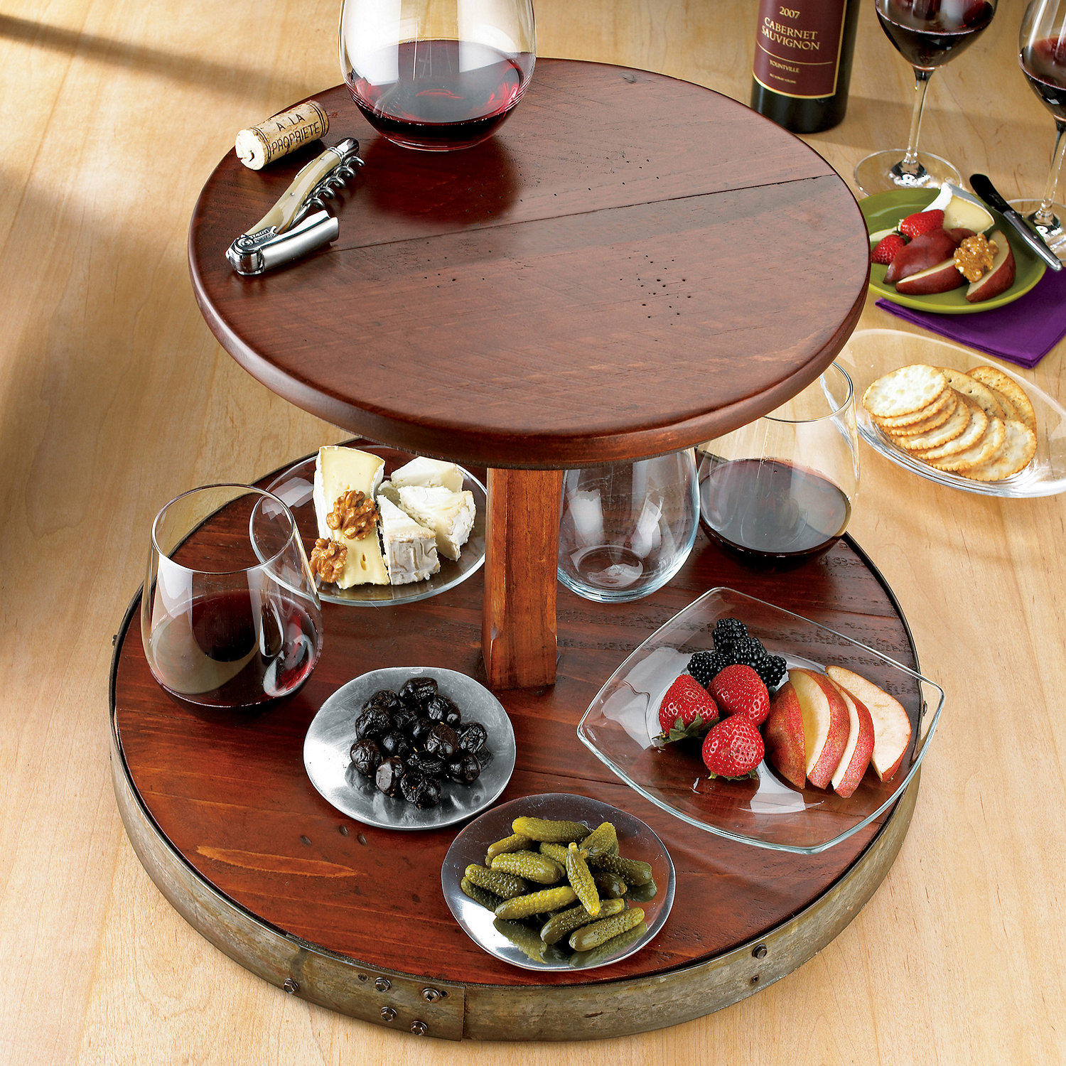 Inspiring wine barrel lazy susan for furniture accessories ideas with personalized wine barrel lazy susan