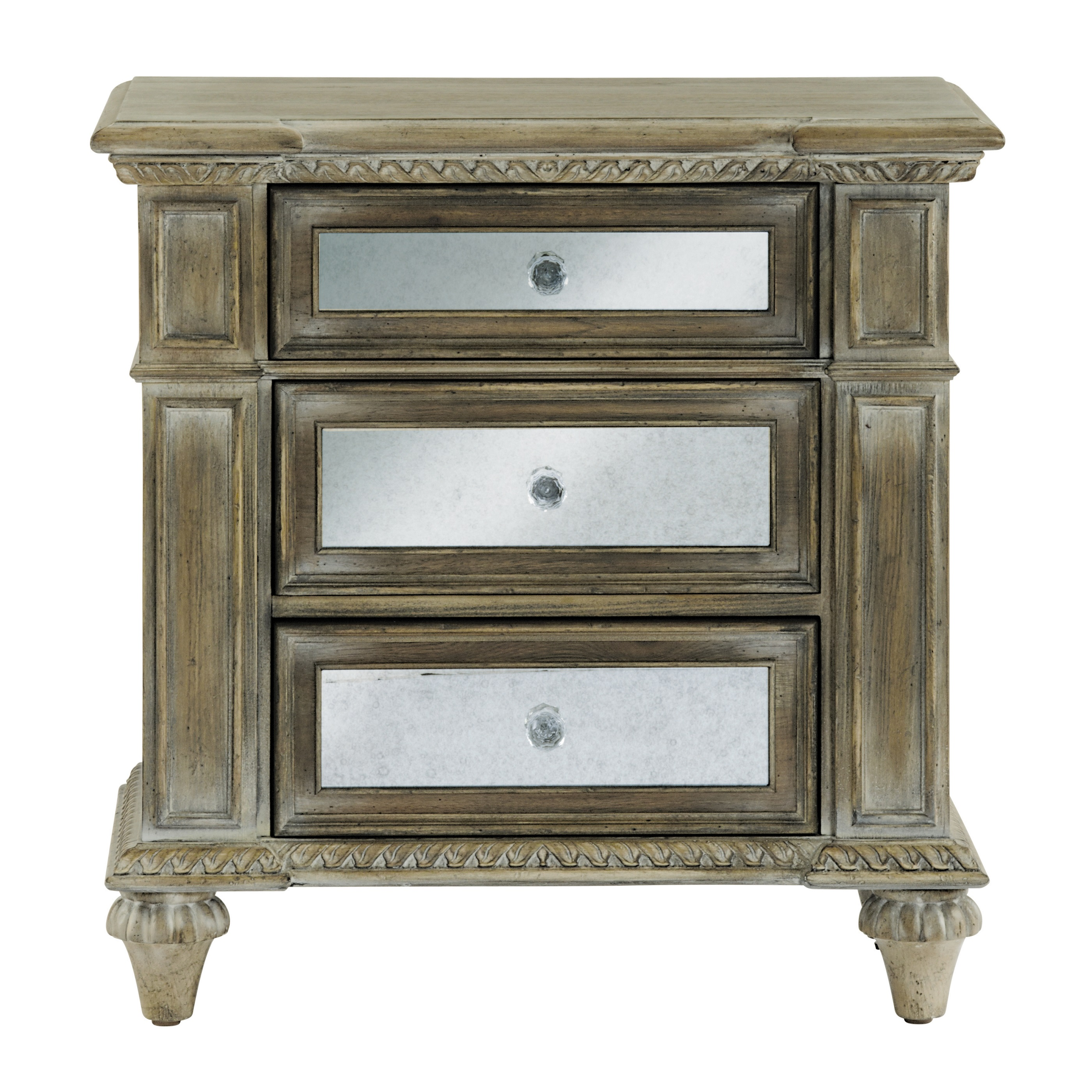 Interesting mirror nightstand for bedroom furniture with mirrored nightstand