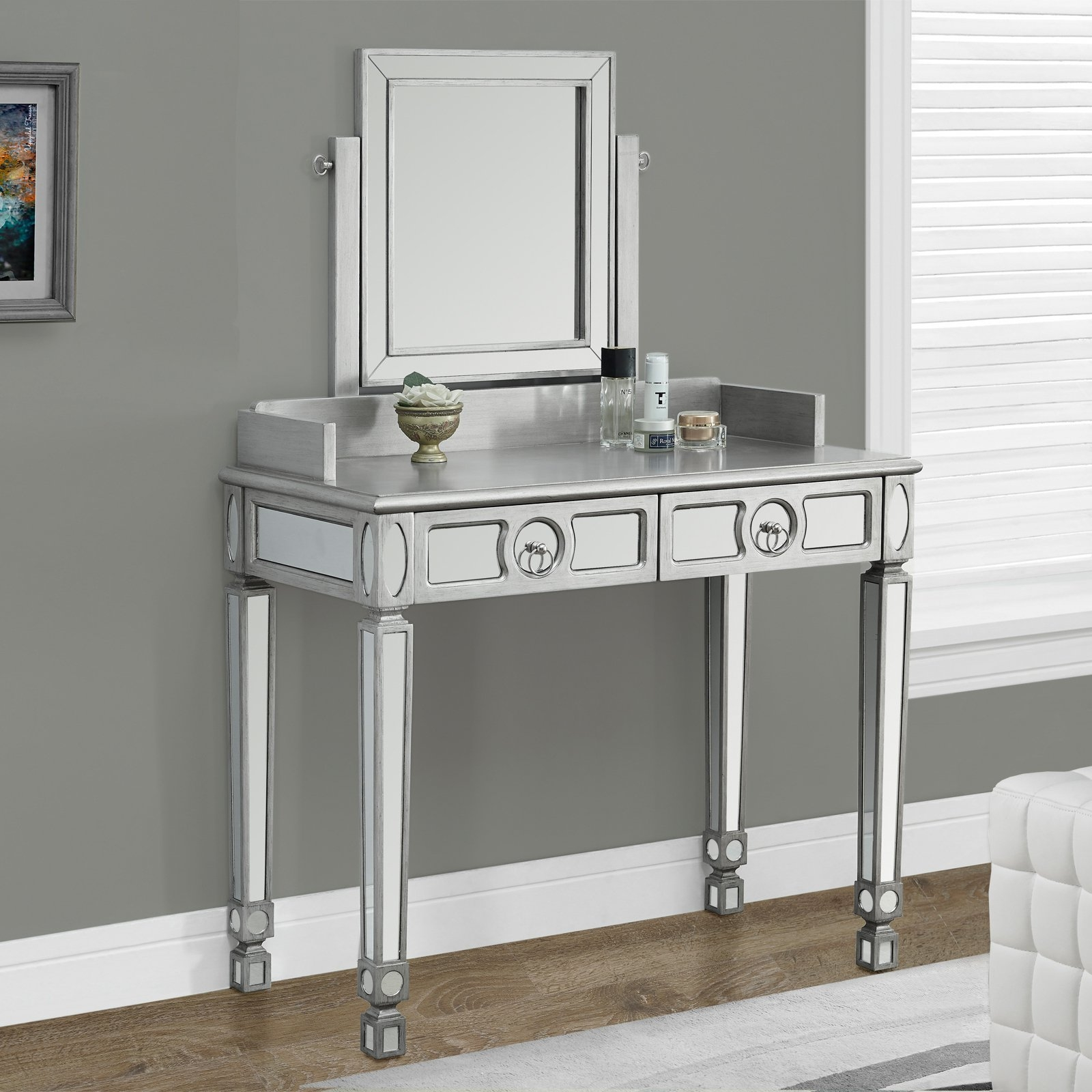 Interesting mirrored vanity for home furniture and vanity mirror with lights