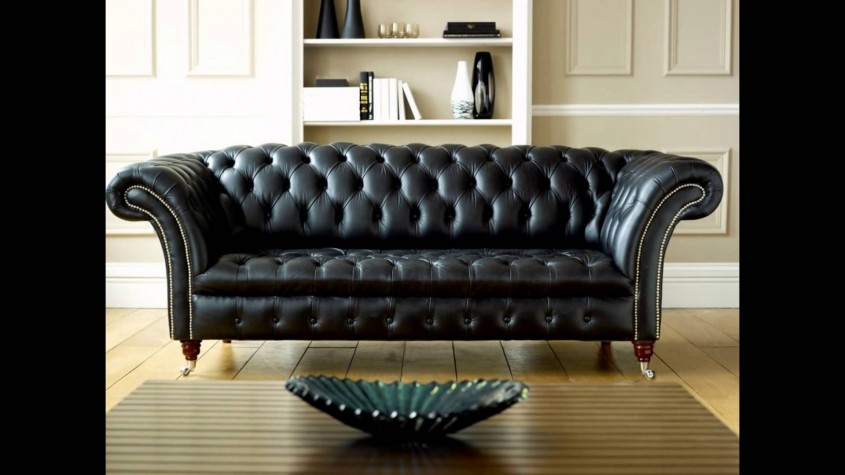 Interesting Tufted Leather Sofa For Living Room Design With Tufted Leather Sectional Sofa