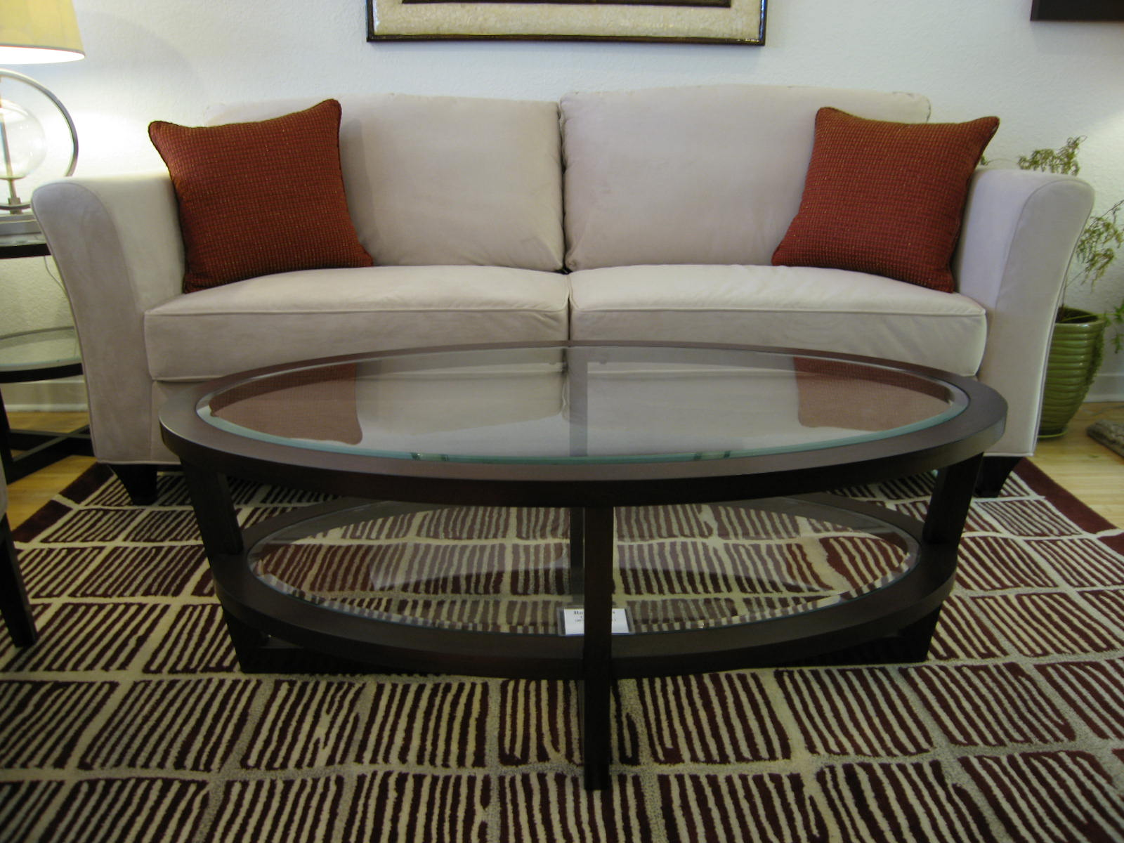 Magnificent oval coffee table for home furniture with oval glass coffee table