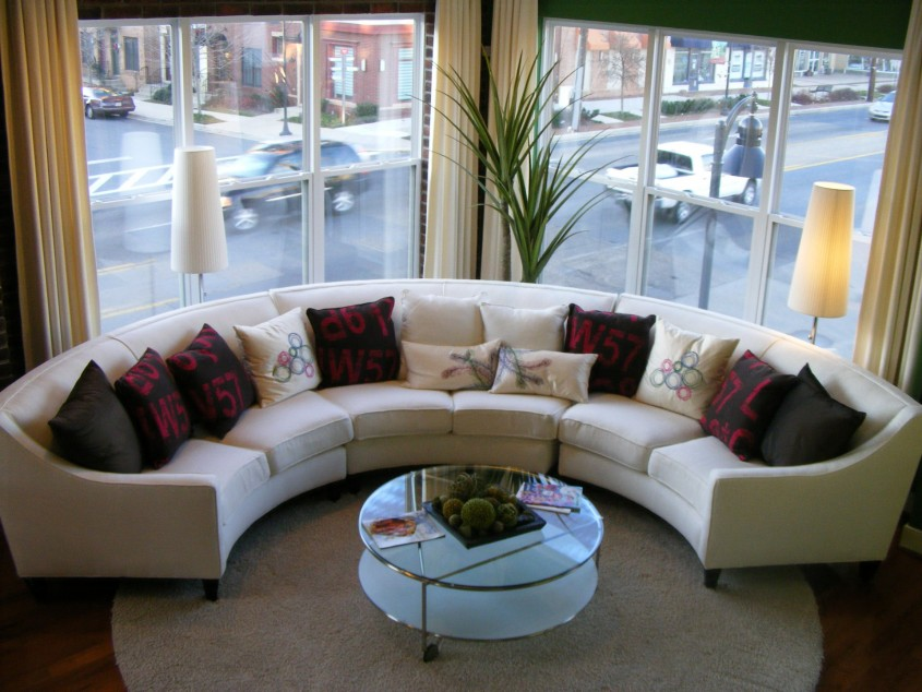 Magnificent White Leather Sectional  For Small Spaces Living Room With White Leather Sectional Sofa