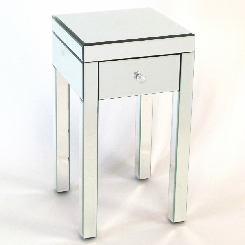 Marvellous Mirror Nightstand For Bedroom Furniture With Mirrored Nightstand