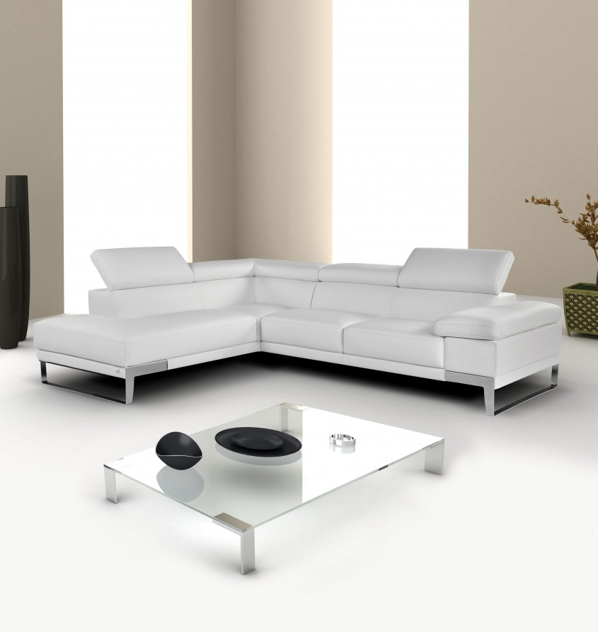 Marvellous White Leather Sectional For Living Room With White Leather Sectional Sofa