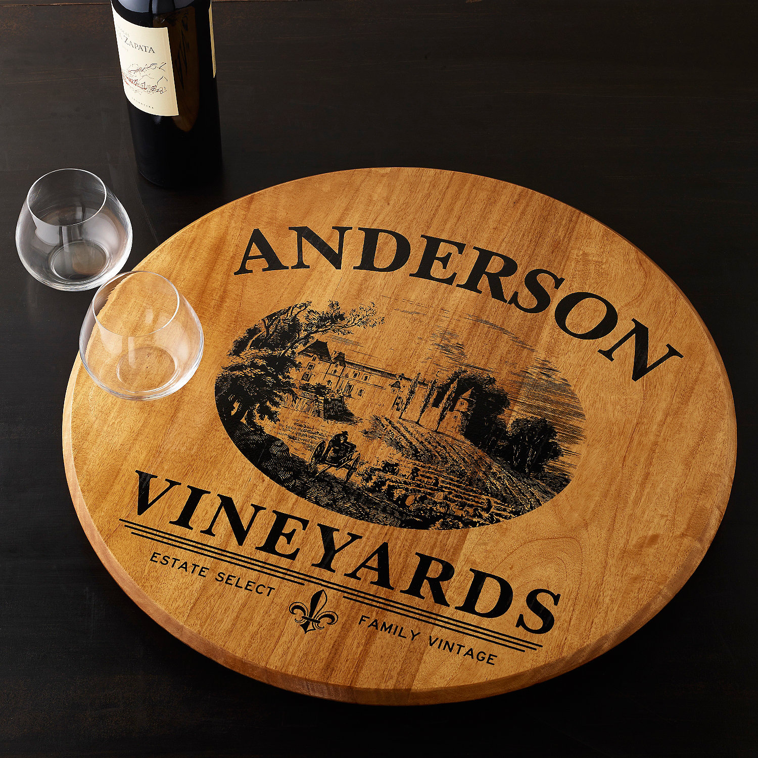 Marvellous wine barrel lazy susan for furniture accessories ideas with personalized wine barrel lazy susan