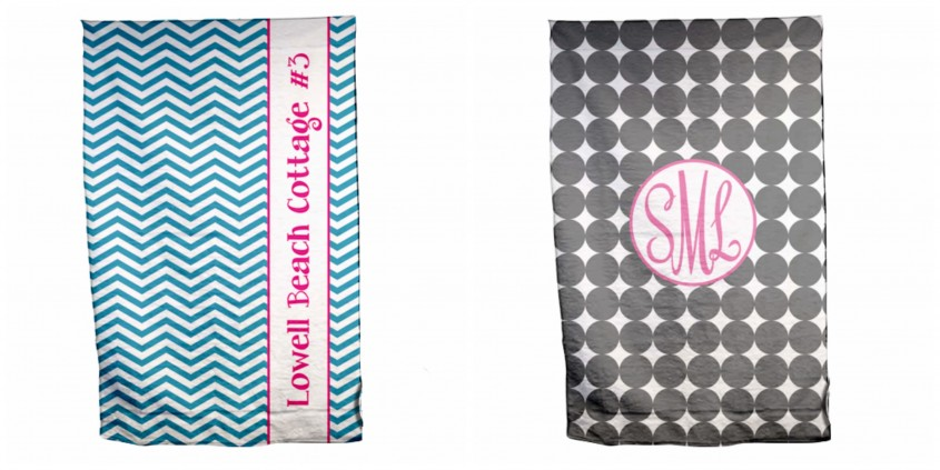 Mesmerizing Monogrammed Beach Towels For Outdoor Ideas With Beach Towels Monogrammed