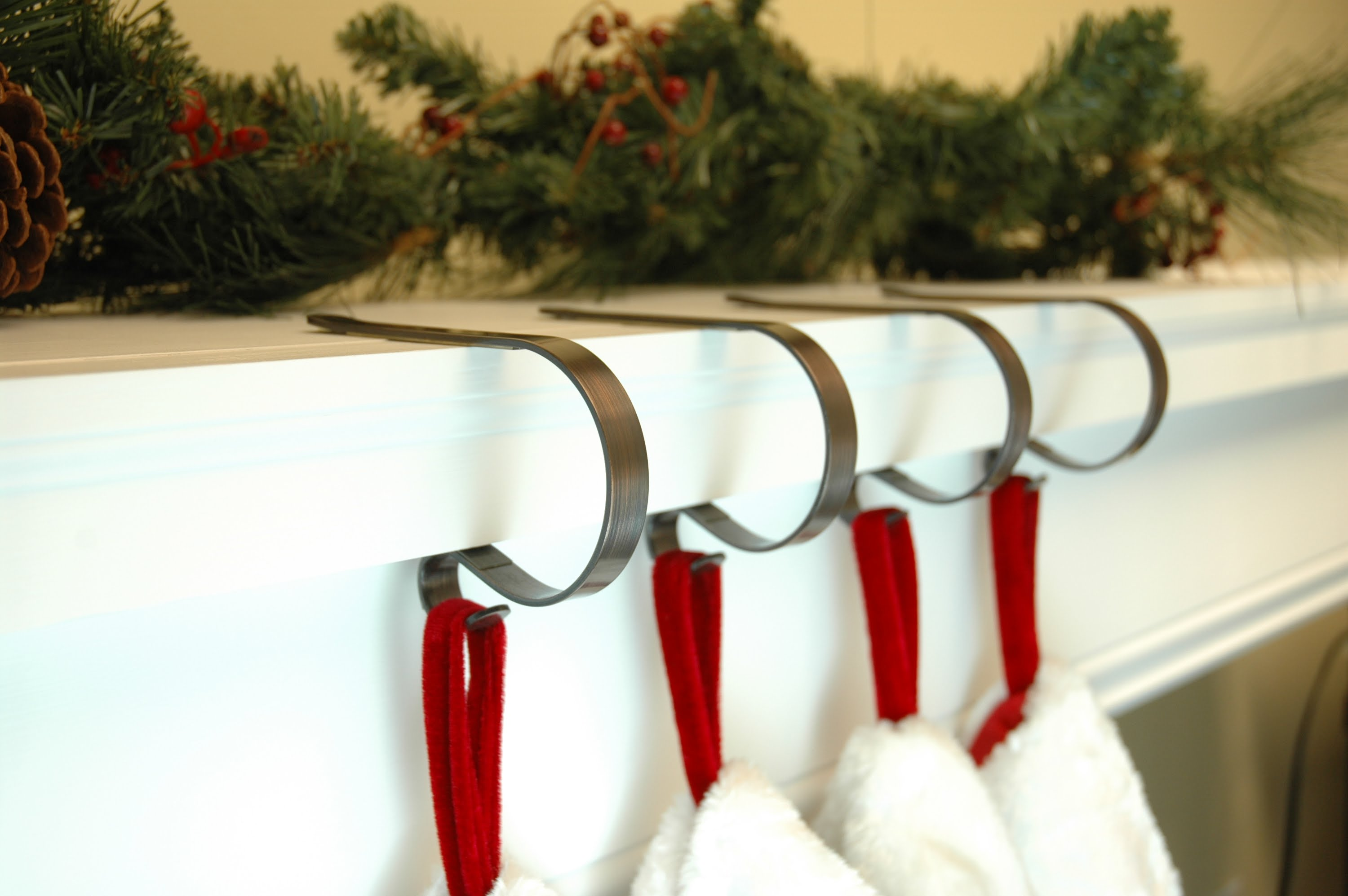 Mesmerizing stocking holder for interior decor ideas with christmas stocking holders
